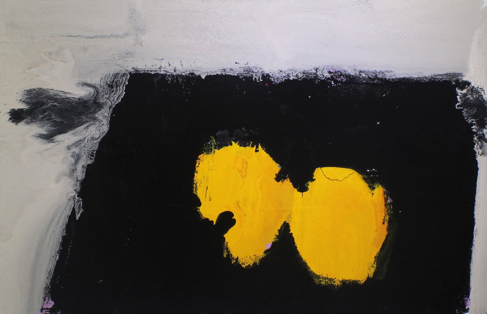 When life gives you lemons, 2014, enamel paint on canvas, 91 x 61 cm