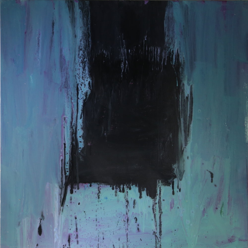 Untitled, 2014, enamel paint on canvas, 152 x 152 cm