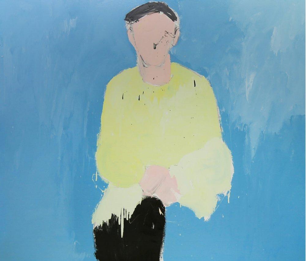 Rehan, 2016, enamel paint on canvas, 168 x 198 cm