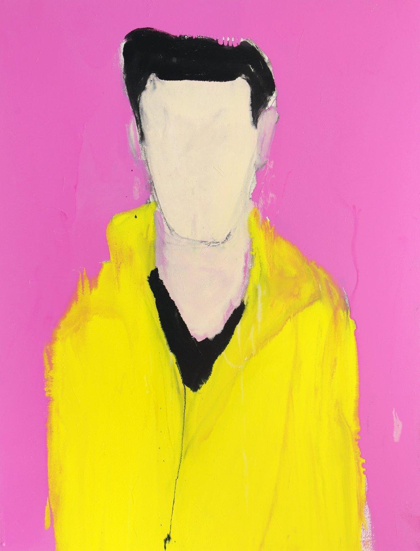 Samrose as Elvis, 2016, enamel paint on canvas, 137 x 106 cm
