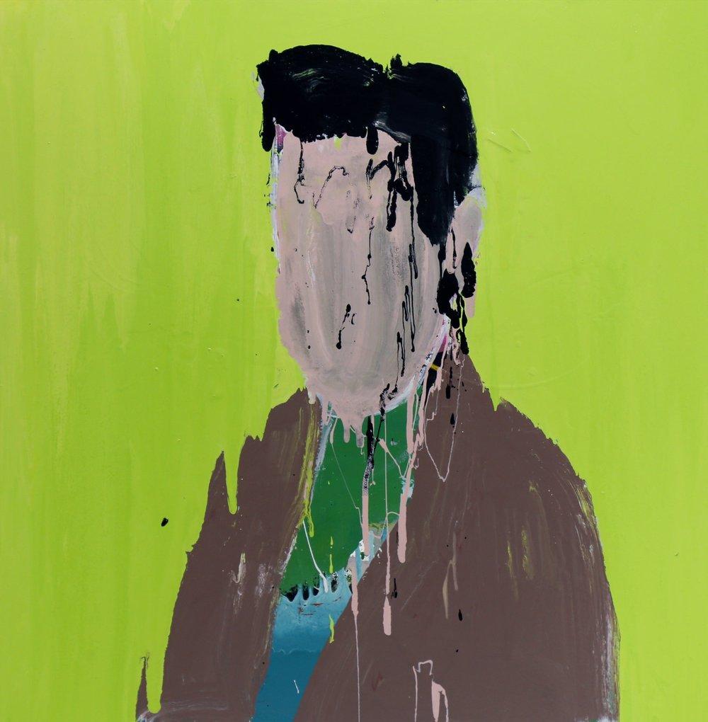 Sohaib, 2016, enamel paint on canvas, 91 x 91 cm