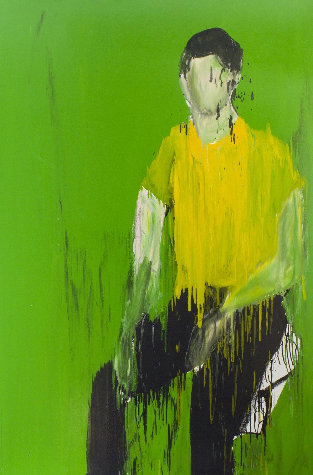 Nael I, 2018, enamel paint on canvas, 229 x 168 cm
