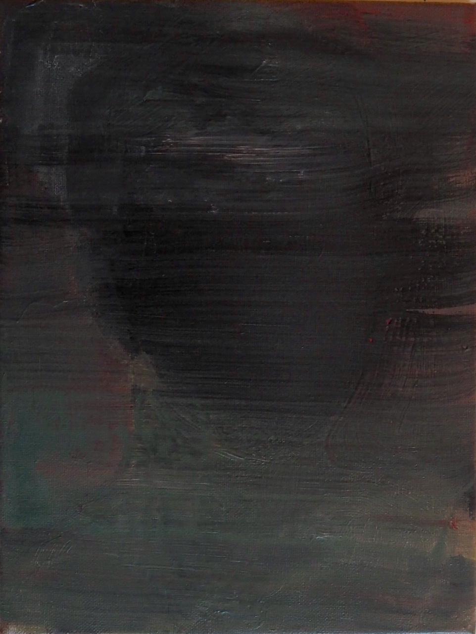 Khan, 2018, acrylic paint on canvas, 22 x 30 cm