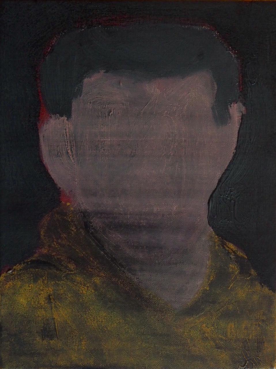 Tutor II: U, 2018, acrylic paint on canvas, 22 x 30 cm