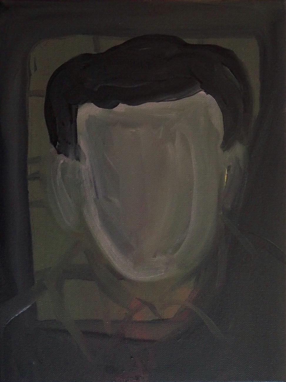 Tutor I: M, 2018, acrylic paint on canvas, 22 x 30 cm