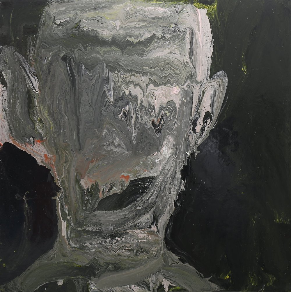 The Careem home, 2017, enamel paint on canvas, 91 x 91 cm