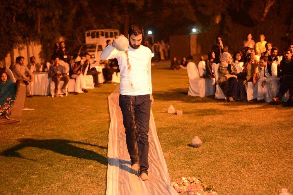 Syrian-German artist, Rabi Georges performing at Gallery 39K