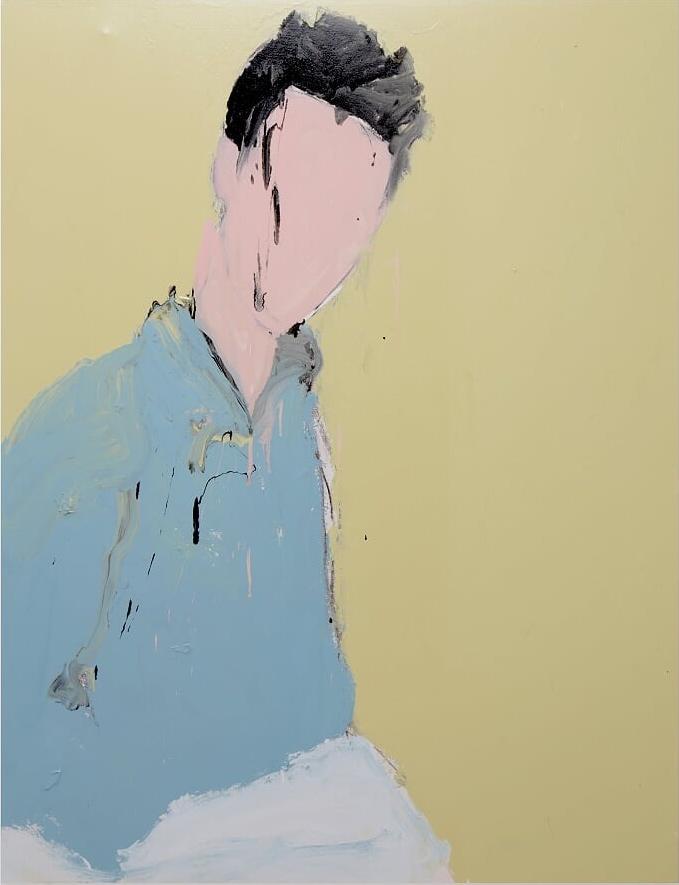 Matt, 2016, enamel paint on canvas, 138 x 168 cm