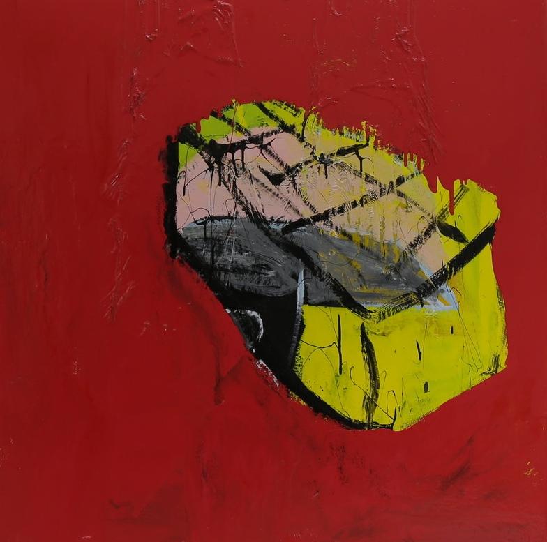 Alaçati revisited, 2016, enamel paint on canvas, 137 x 137 cm