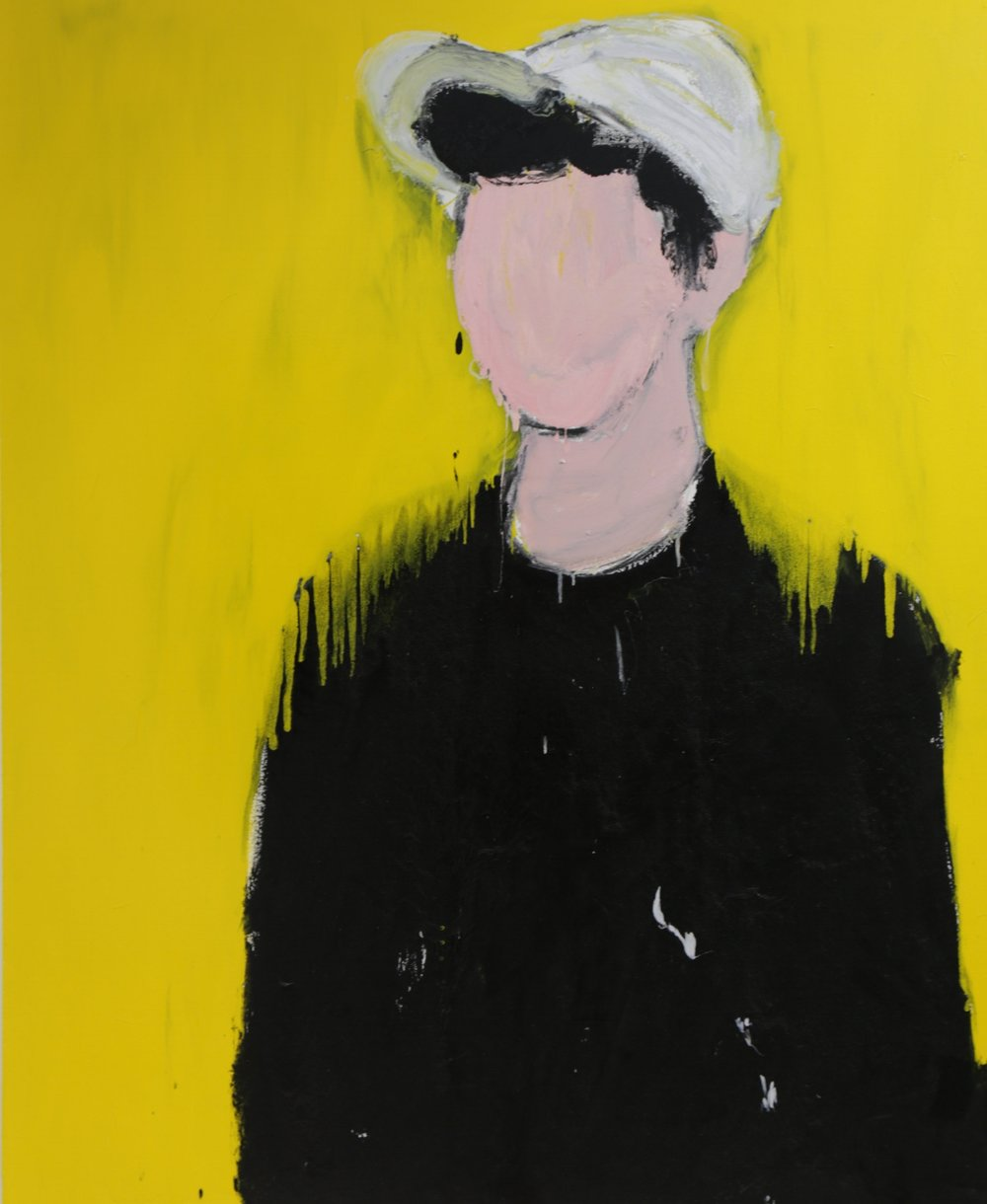 Samrose I, 2016, enamel paint on canvas, 138 x 168 cm