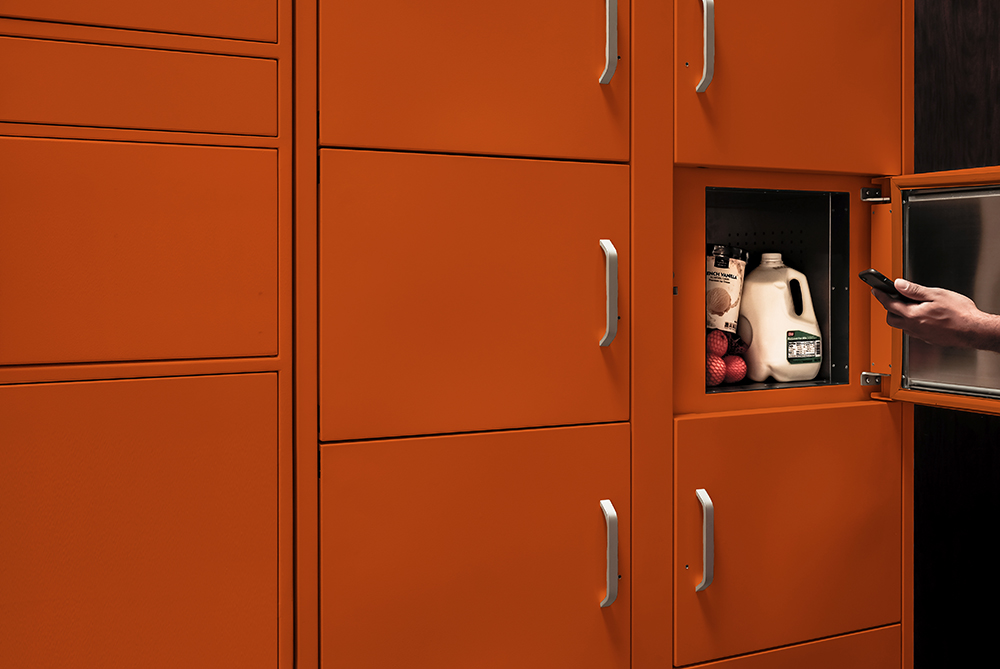 Optimize services and maximize value with Intelligent Delivery Lockers - Get efficient and convenient drop-off and pick-up with a scalable, and customizable electronic locker system that gives both onsite, remote workers and visitors a space of their own. Packages are delivered into an electronic locker, and notifications are sent to the recipients with a special unlock code to pick up their items at their convenience.Our high-tech package lockers, called PoDs, keep parcels safe and secure. The software powering the PoDs automates pick-up and drop-offs for couriers, and employees.Key features and benefits:- Customizable locker configurations allow you to create your own bank that fits your unique space and package management needs- Automation technology eliminates the need for staff to sort and deliver packages- Secure PoDs solve package theft issues- Robust administrative tools create chain of custody reports and other powerful metrics to better inform big decisionsSee how we can help your business run more efficiently.