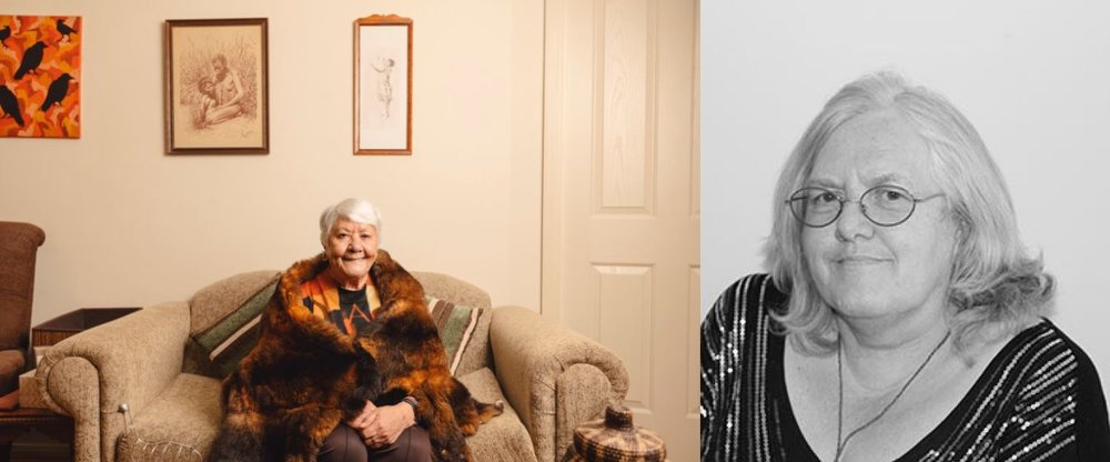 Pictured: Aunty Fay Carter (left) & First Nations Chair Aunty Di Kerr (right).