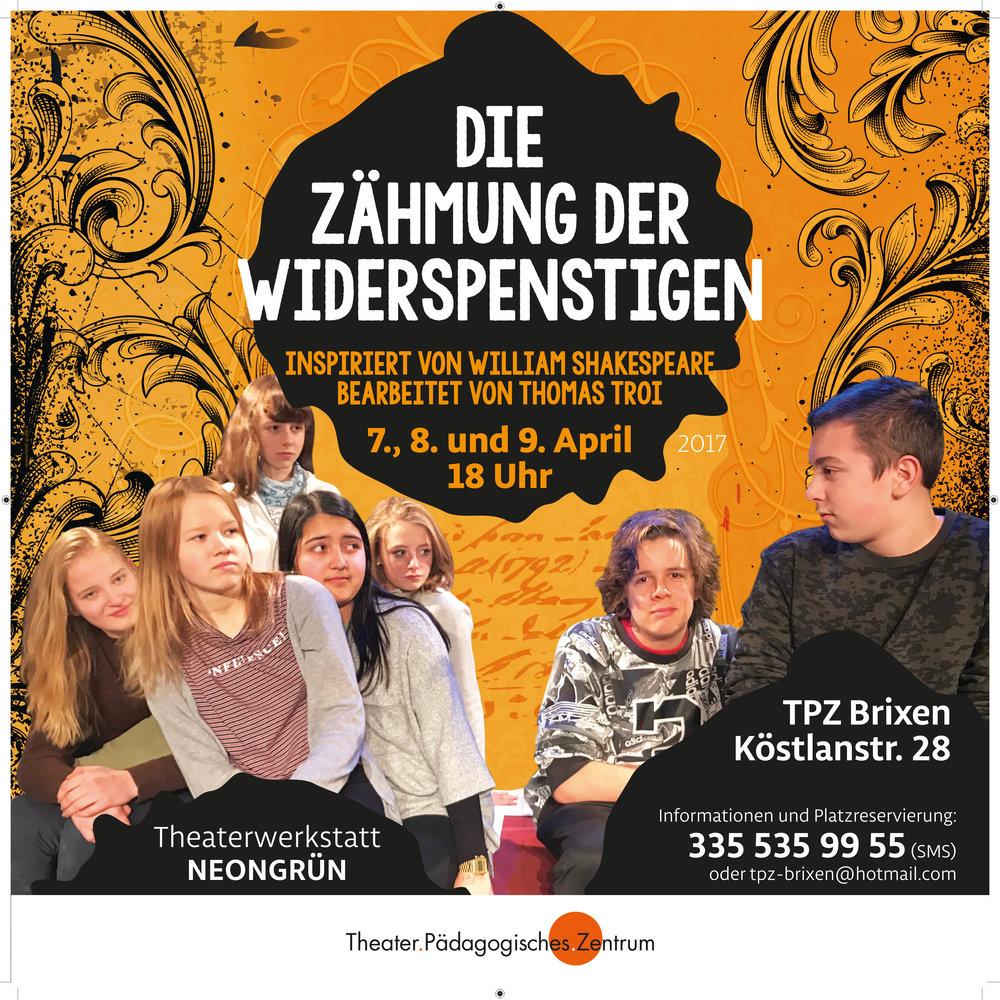2017 neongrün Zähmung Plakat.jpg