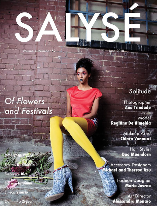 "SALYSÉ MAGAZINE   Launched in January 2015, SALYSÉ Magazine is a photography magazine, featuring beauty, fashion and conceptual editorials. They published my editorial story ""Solitude"" on the cover of the print magazine and full story for the June Issue 2018."