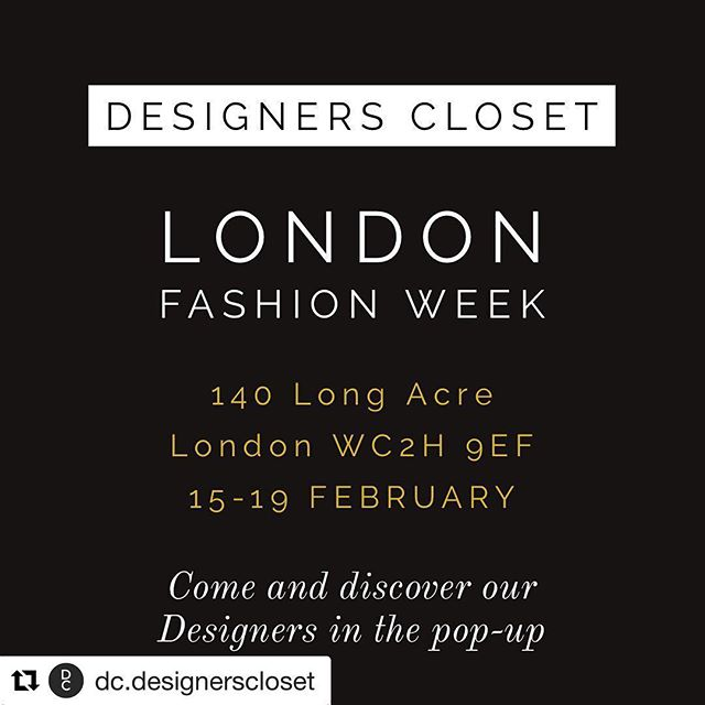 #Repost @dc.designerscloset with @get_repost ・・・ That time of the year is here again!! ✨✨ We are so excited to host the 3rd edition of our pop up event in Covent Garden 🔥 We are grateful and honoured to host amazing and talented emerging fashion designers from all OVER THE WORLD 🌎  5 days only in London for the #londonfashionweek 15-19 February  Long Acre WC2H 9EF . OUR DESIGNERS @rosiebillington  @acte.nation @valma.li @byandreaayala @stasadesign @eva_innocenti_bags @gina_cusachs  @ygncollective  @vkarellas  @byrogue  @aweless.aweless  Thanks to our partner @thelagomconcept - we 💚u . . Thanks to @catarinamidby for your support ✨ Thanks to our sponsors:  @funkincocktails 🍸✨ @tenzing find them in our goodie bags 🌱 @andsistersuk Find them in our goodie bags 💚