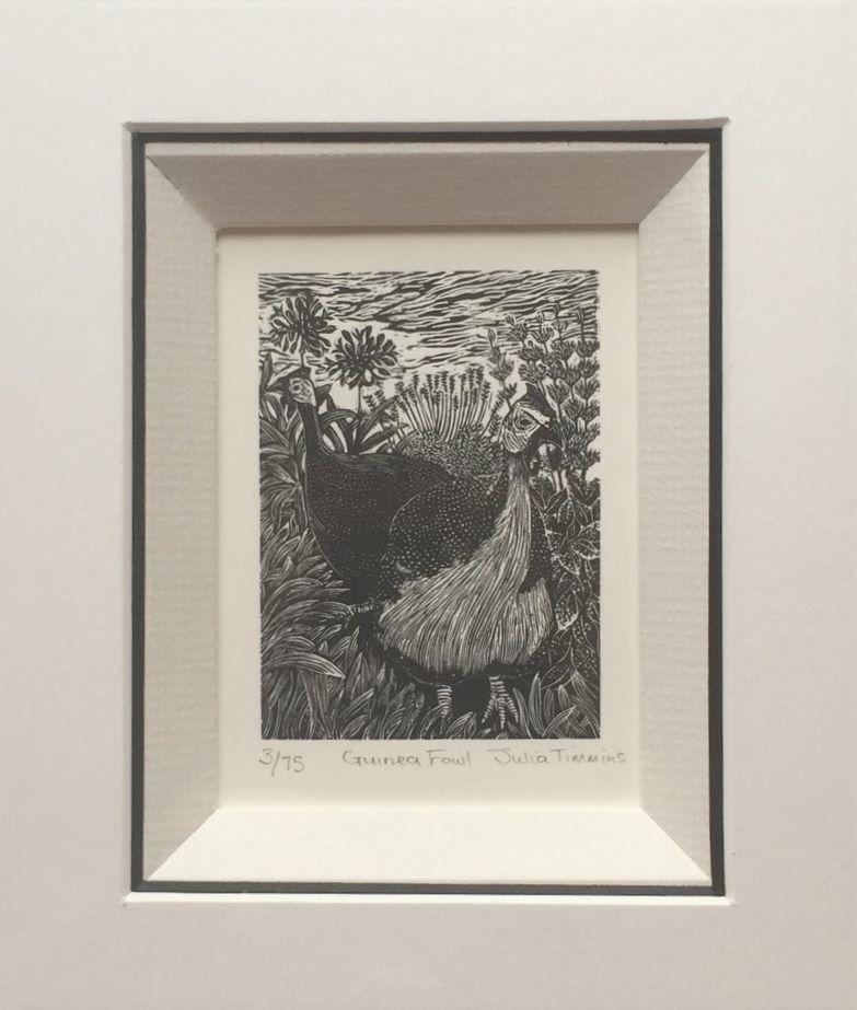 Guinea fowl in a frame.jpg