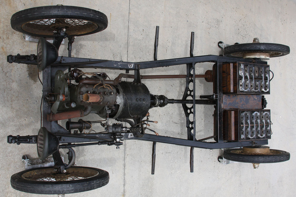 - Model 54, is powered by a four cylinder gasoline engine fitted to an auxiliary electric motor generator. At speeds below 15 mph, the gasoline engine idled, and the car was driven entirely by the electric components. The gasoline engine, in conjunction with the electric motor, could increase to speeds reaching 35 mph.