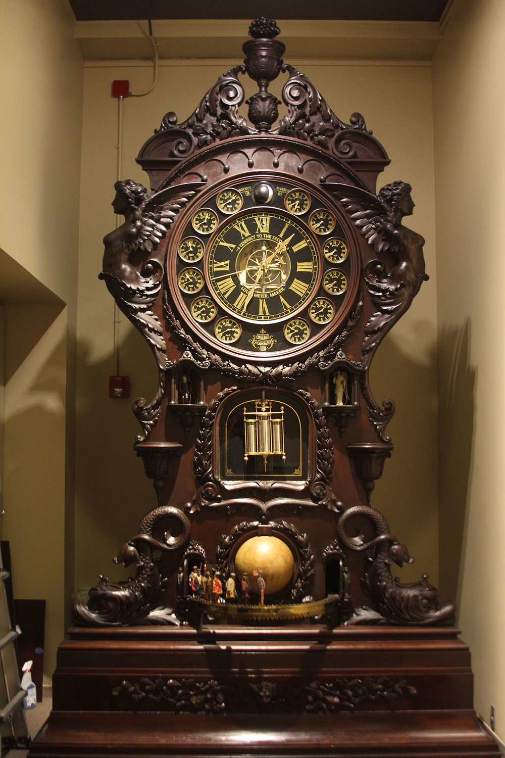After: clock was restored to exhibition condition after conservation treatment