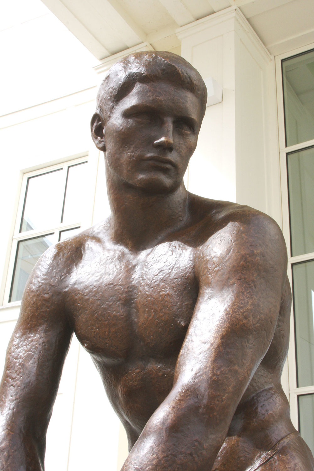 After: bronze sculpture after conservation treatment
