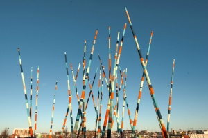 Stix is a sculpture that can be seen on  Nashville's Public Art walk .