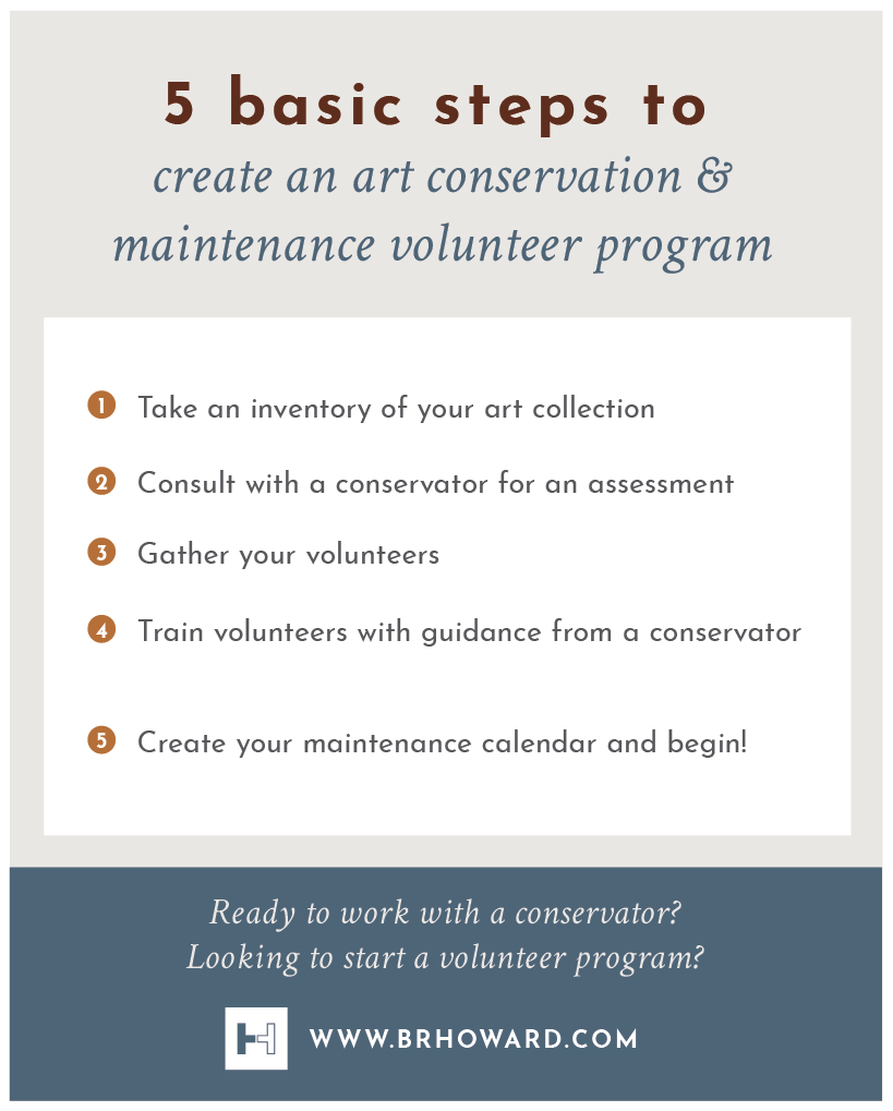 Click image for larger view .  Infographic: Steps for creating an conservation and maintenance volunteer program.