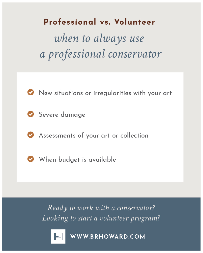 Click image for larger view .  Infographic: When to always use a professional conservator.