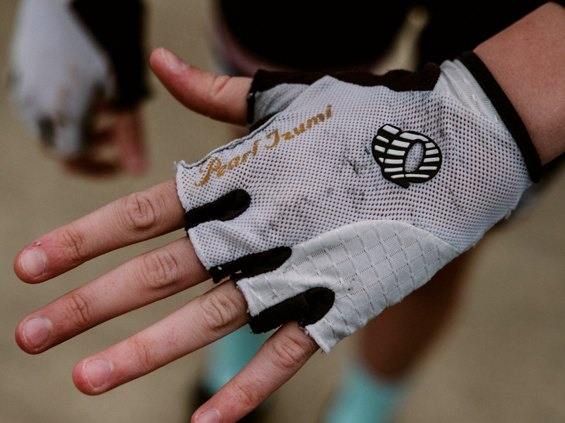 "Pearl iZumi Gloves:  ""They were my first gloves. They have good cushioning.""  $40"