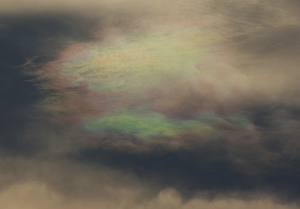 Cloud iridescence over Little Ginger. Photo by John Wright.