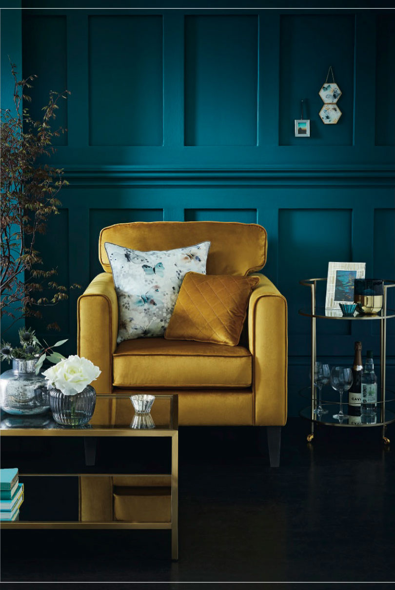 This is a paid advertorial with Tesco.  (drinks trolley, image courtesy of Tesco)    It was a real pleasure to preview the Autumn/Winter 2018 collection from Tesco. The  Fox & Ivy collection  is in its third season and the range is growing in confidence and has already established signature elements. The cranes make a come back as does the brass and mirror drinks trolley (just £149!) which try as I might under Fluro lighting I don't think I quite captured it's Wantability. But trust me you will want it! There's also discussion of an outside drinks trolley making an appearance for spring 2019 which I think should definitely happen.