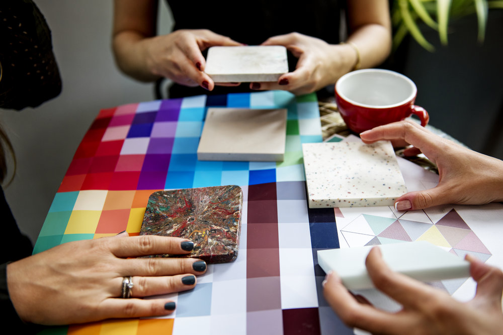 Colours & moods - Where a home visit is not practical we can provide advice and interior design mood board by post.