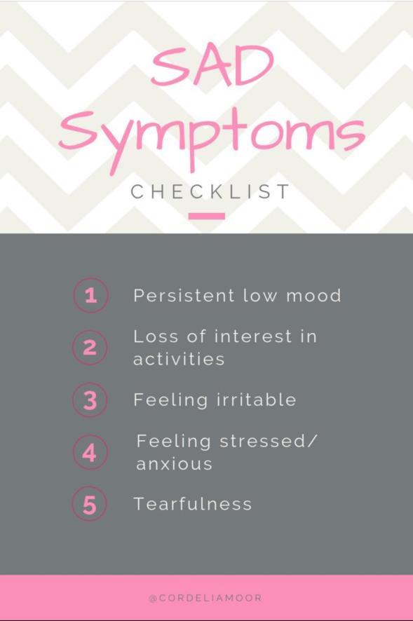 Seasonal Affective Disorder Checklist