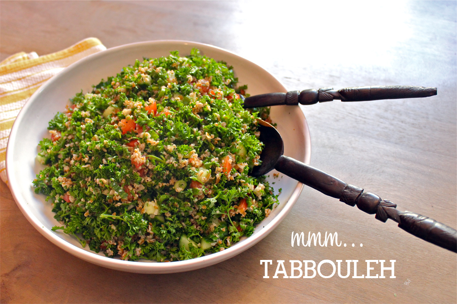 Tabbouleh finished