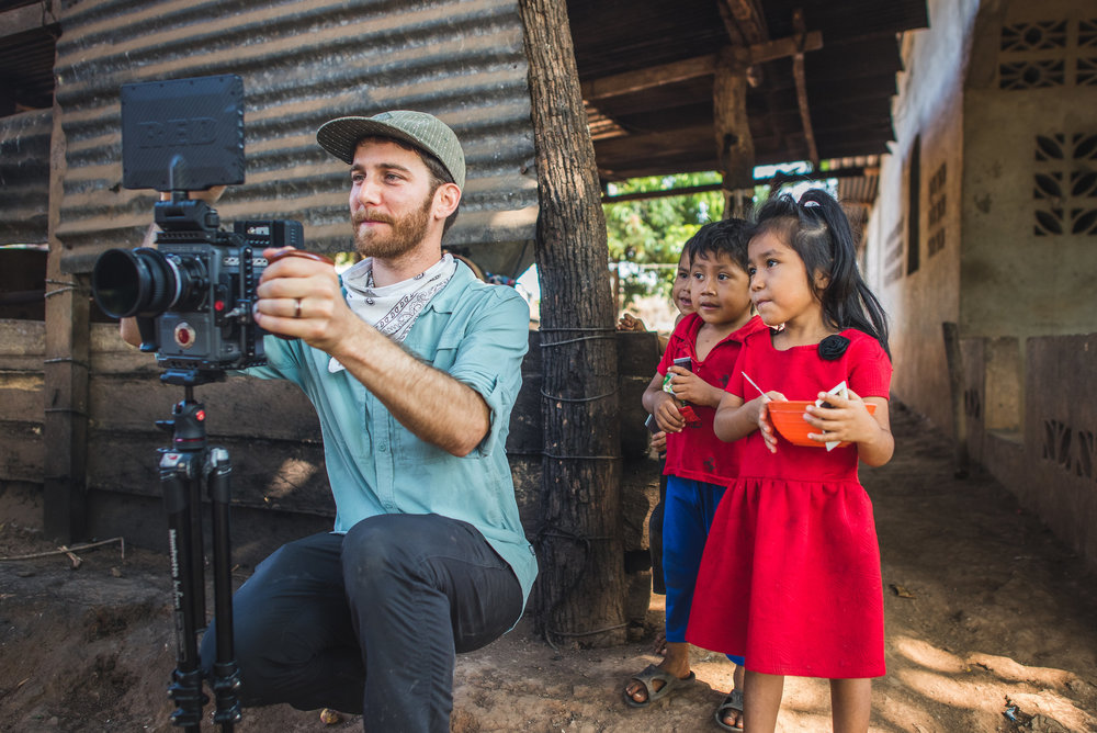 Thomas Deschenes behind the scenes on a clean water project near Coatepeque, Guatemala.