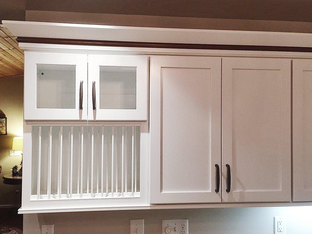 Plate racks & glass doors -