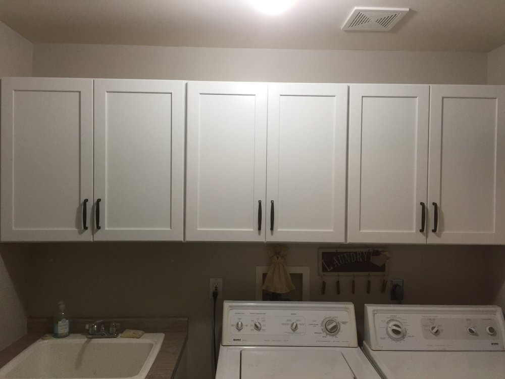 Laundry room cabinets -