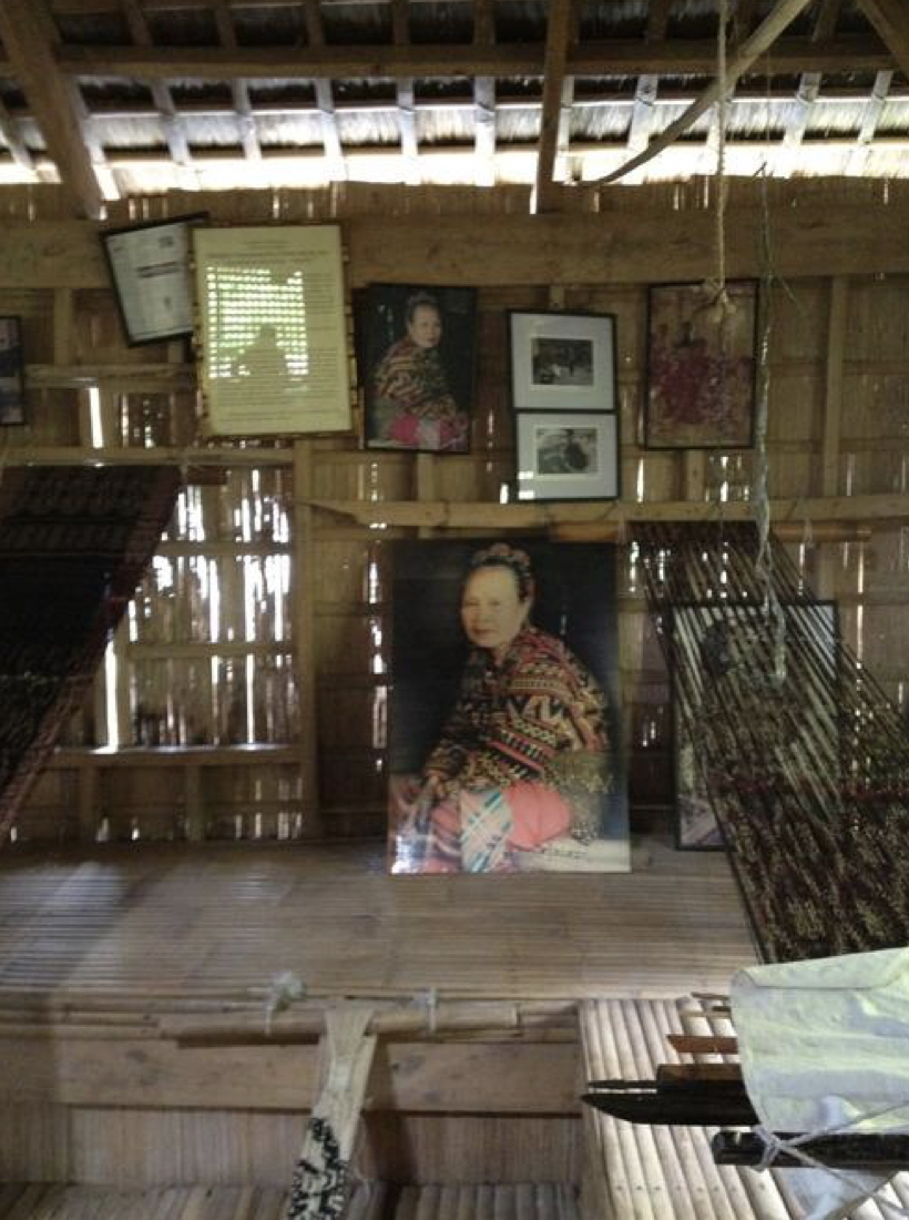 Paintings of Lang Dulay with her T'nalak and looms.