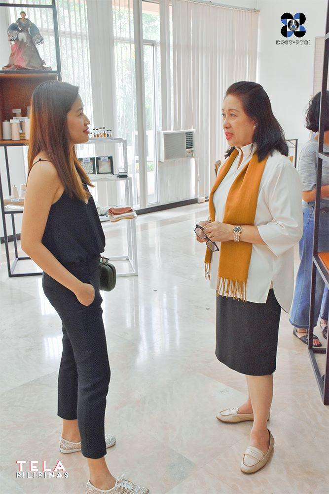 VESTI founder  Martha Rodriguez with  DOST-PTRI Director  Celia Elumba
