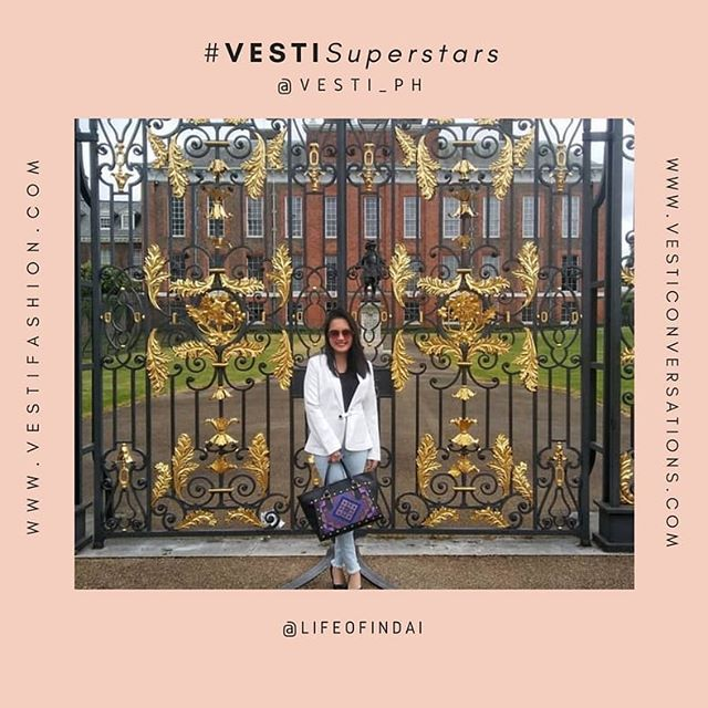 #VESTISuperstars  People who shine and inspire with their @vesti_ph stories and bags.  @lifeofindai | Diplomat Extraordinaire with her Mary Grace bag