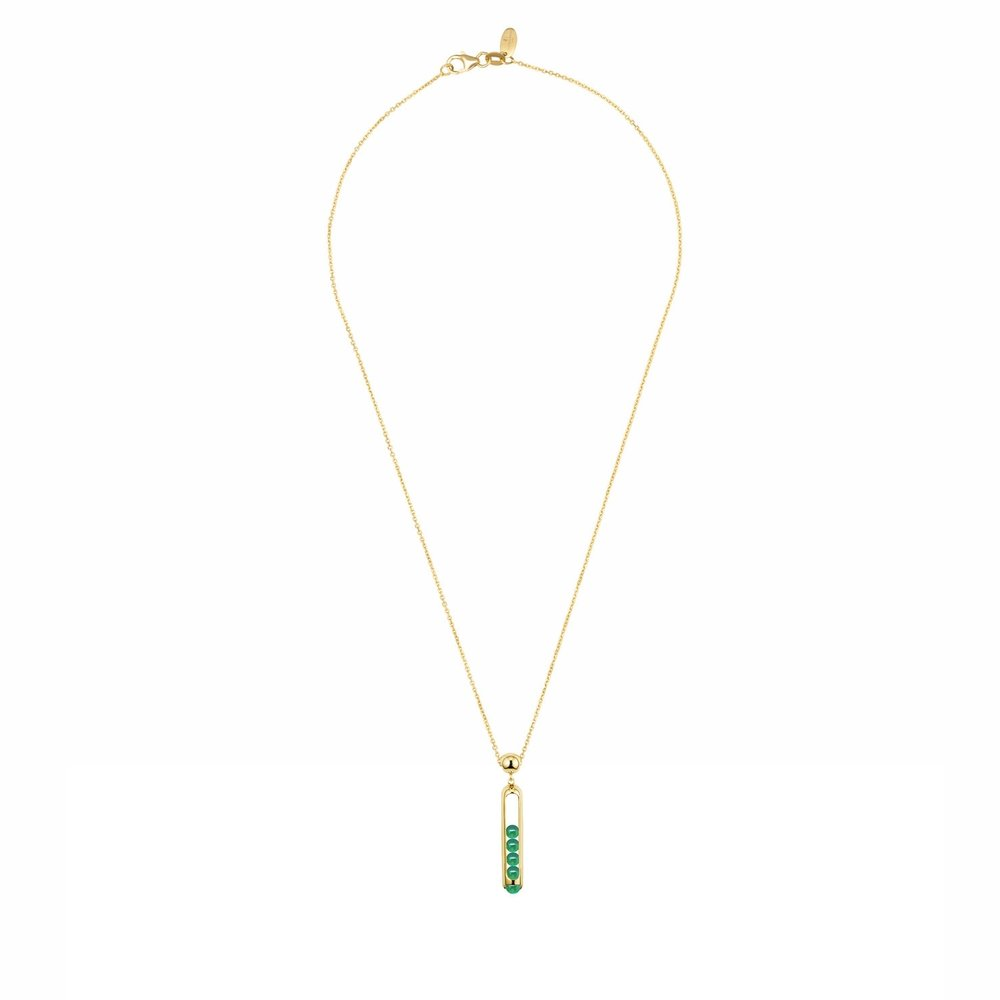 MELODY Collection yellow gold/emerald pendant