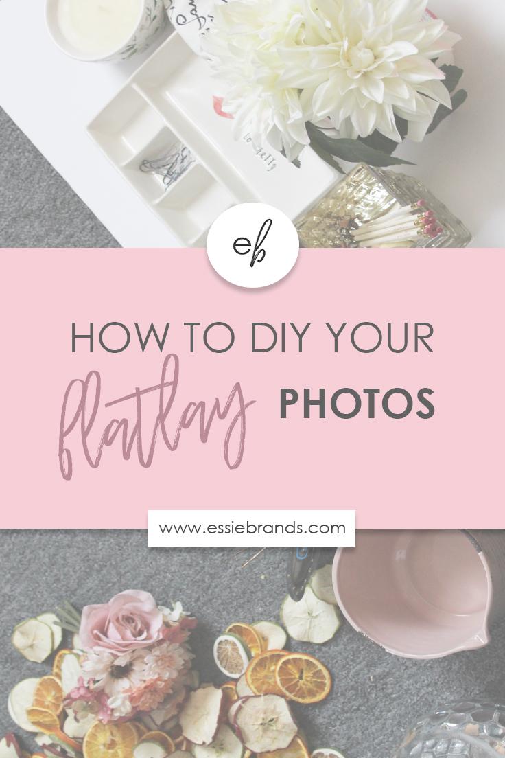 How to create beautiful flatlay or stockphotos from home. #brandingtips #brandingyourself #diy