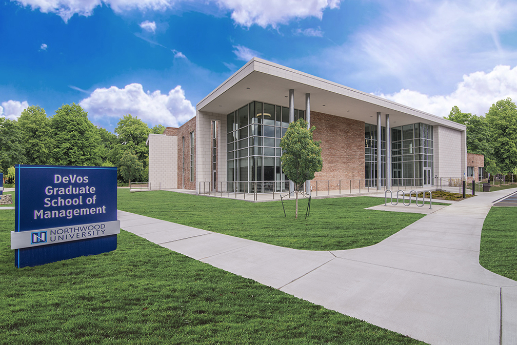 Front of the DeVos Graduate School