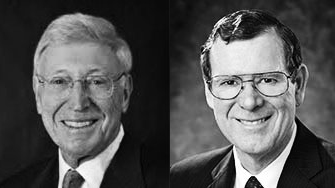(L-R) Bernie Marcus, Co-Founder of Home Depot and John Allison, CEO of The CATO Institute and former Chairman and CEO of BB&T