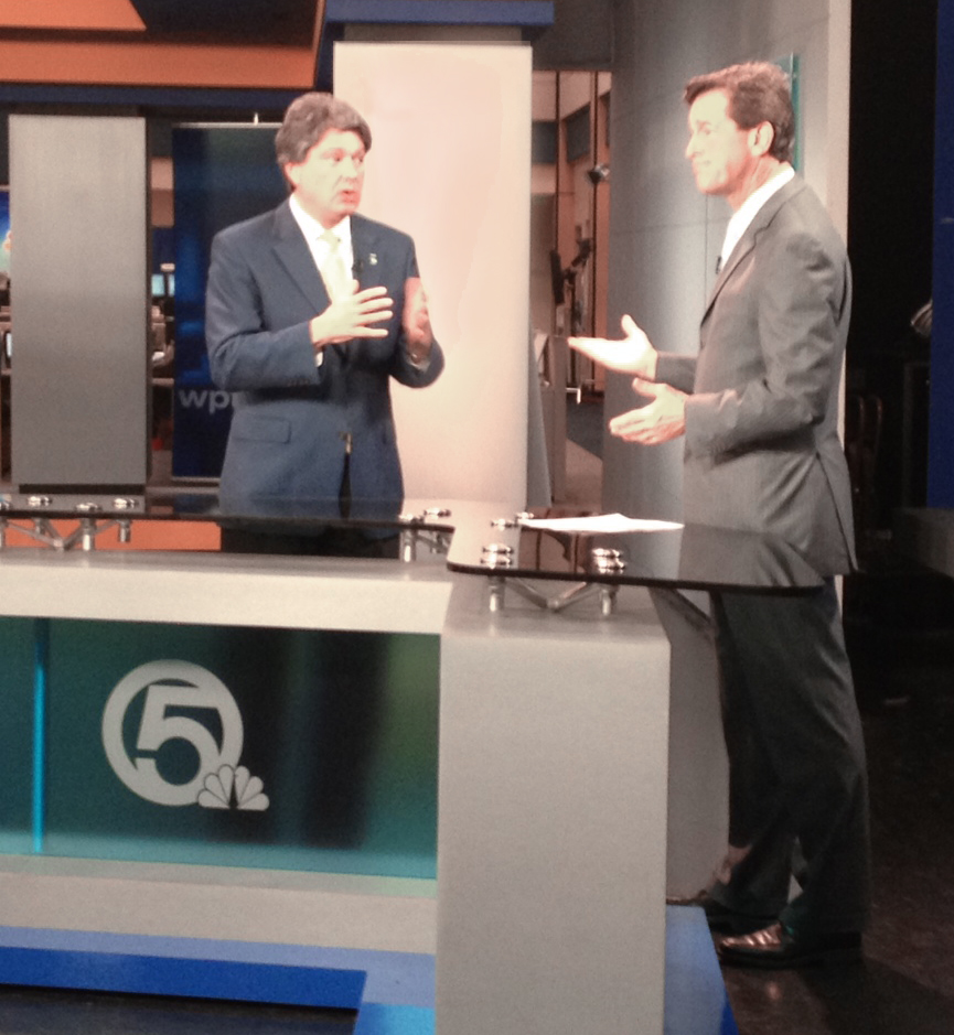 Dr. Tom Duncan interviews live in studio with WPTV's Michael Williams.