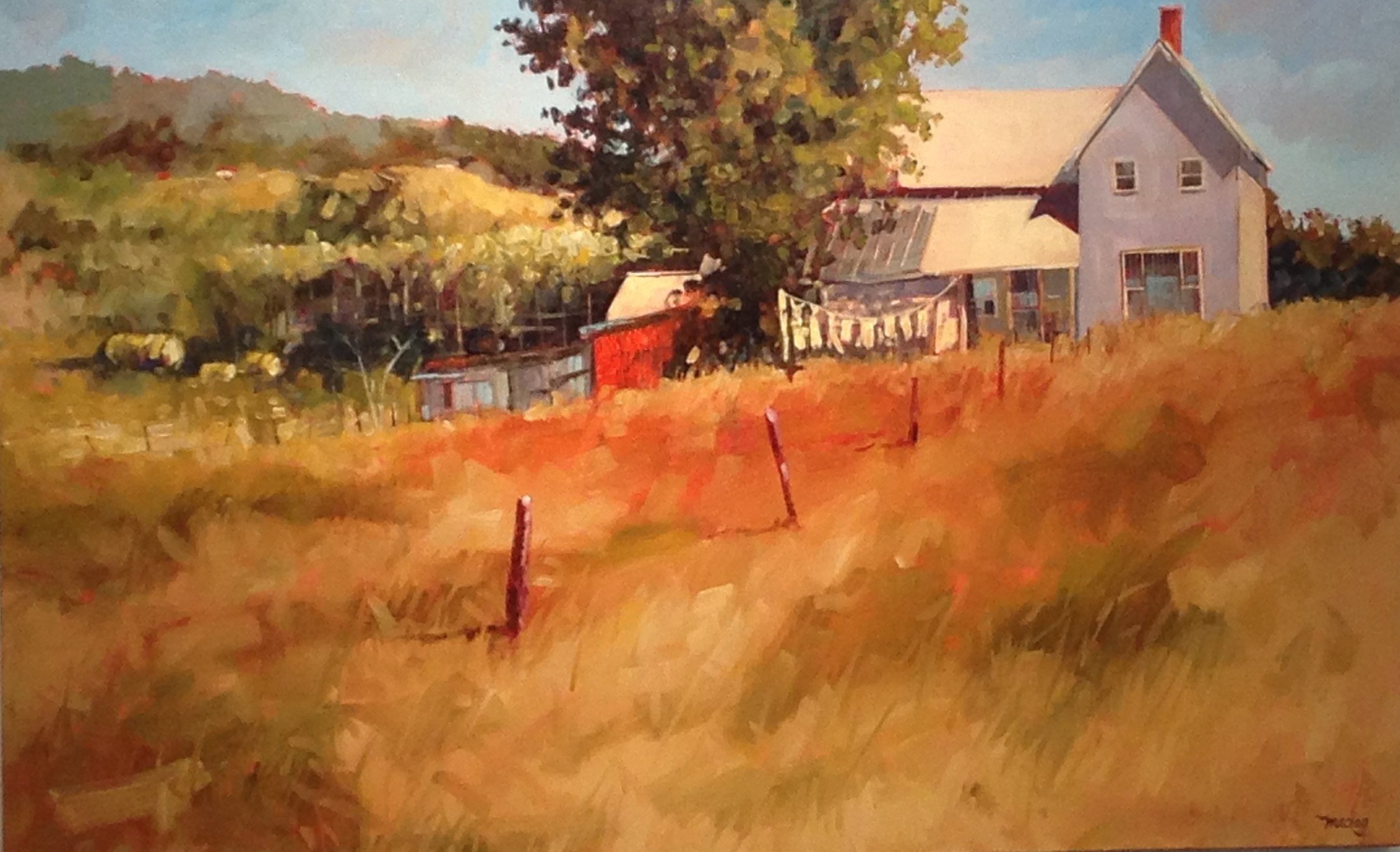 "Alan Maciag, Wash Day, Oil on Canvas, 30"" x 48"""