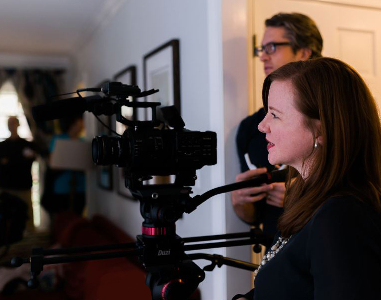 Ann Marie Taepke directs a client video shoot.