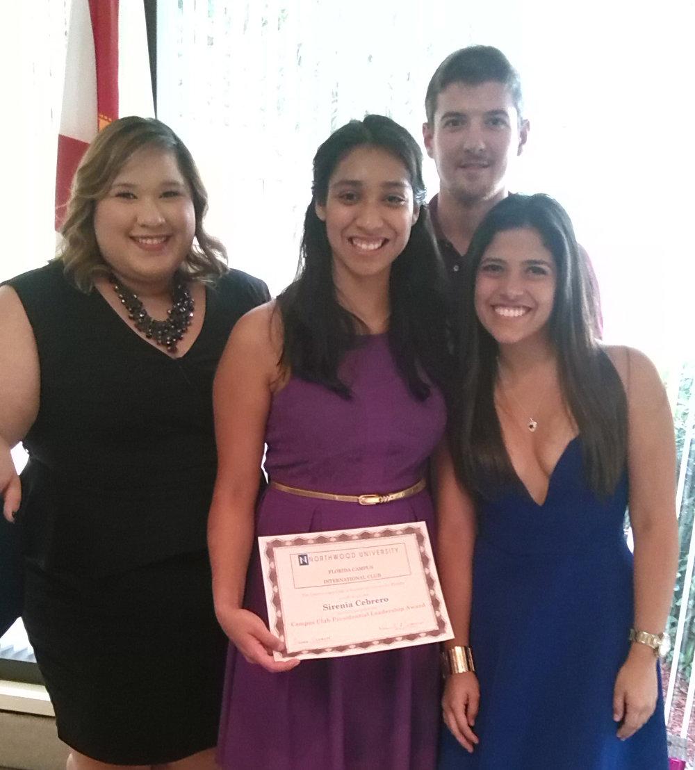 International-Club-Student-Leadership-Award-Recipients-Yolanda-Sanchez-Sirenia-Cebrero-Ian-Steele-and-Andrea-Rojas-5-2015.jpg
