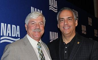 NADA incoming chairman Jeff Carlson, left, and incoming vice chairman Mark Scarpelli at NADA's board meeting in Palm Beach, Fla., this week.