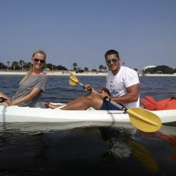Kayaking at one of our favorite vacation spots in Florida!
