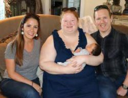 AOW's Megan Vickers with the happy family
