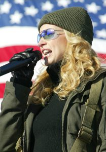 Faith Hill at Good Morning America Tribute Concert for US Armed Forces 2009